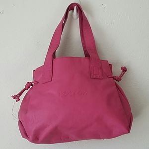 Escada Pink Purse Leather New Other